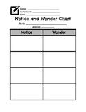 Notice and Wonder Organizer- Wit and Wisdom