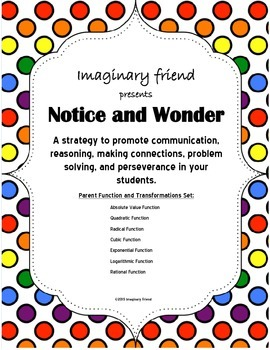 Notice and Wonder: Parent Functions and Transformations