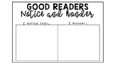 Notice and Wonder Poster and Graphic Organizer