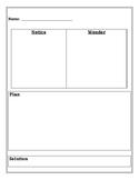 Notice and Wonder Recording Sheet
