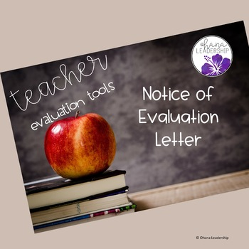 Notice of Evaluation Letter