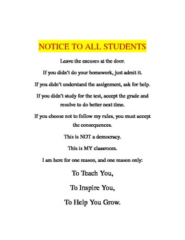 Notice to All Students