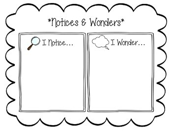 Notices & Wonders Anchor Chart