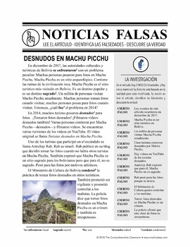 Noticias falsas: Desnudos en Machu Picchu