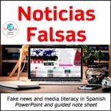 Noticias falsas : Media literacy and fake news in Spanish
