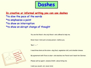 Noticing an Author's Craft: Using Dashes, Ellipses, & Colons in Writing