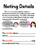 Noting Details Anchor Chart
