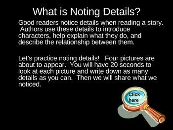 Noting Details II