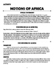 Notions of Africa Activity