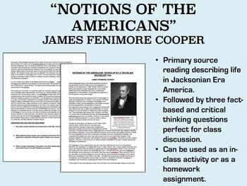 """Notions of the Americans"" - James Fenimore Cooper - Jacksonian Era - USH/APUSH"