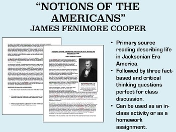 """Notions of the Americans"" - James Fenimore Cooper - Jacksonian Era - USH/APUSH"