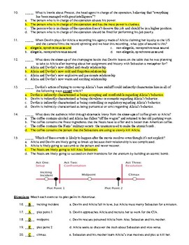 Notorious Film (1946) 20-Question Matching and Multiple Choice Quiz