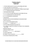 Notorious Jumping Frog of Calaveras County by M. Twain Guided Reading Worksheet