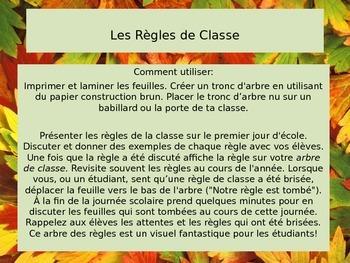 Notre Arbre des Règles (French Classroom Rules Tree)