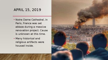 Notre Dame Cathedral FIRE 4/15/19