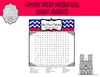 Notre Dame Cathedral Word Search