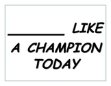 """Notre Dame """"______________ Like a Champion Today"""" Activity"""