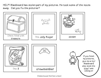 Noun Activities: Nautical Nouns - A Week of Pirate Fun