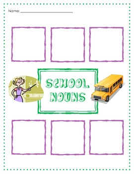 Noun Activities for K-1