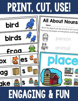 Noun Activity Bundle - Person, Place, Thing, Singular, Plural