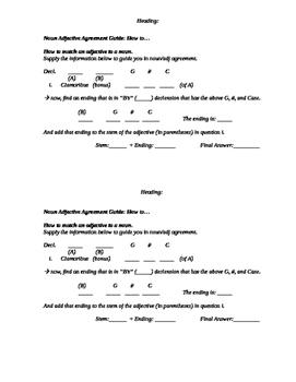 Noun Adjective Agreement Guide