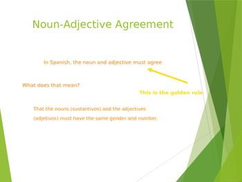 Noun-Adjective Agreement Lesson