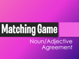 Spanish Noun Adjective Agreement Matching Game