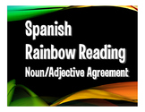 Spanish Noun Adjective Agreement Rainbow Reading