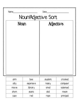Noun/Adjective Sort