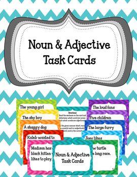Noun & Adjective Task Cards