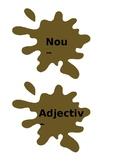 Noun, Adjective, Verb Pig Sorting Game