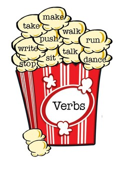 Noun, Adjective & Verb Popcorn Display
