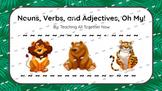 Noun, Adjective, Verb interactive Google Slides