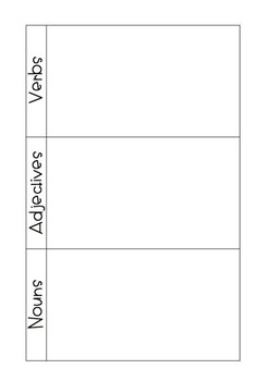 Noun, Adjective & Verb sort {4 different sorts}