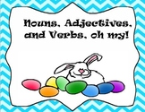 Noun, Adjective, and Verb Easter sort