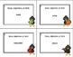 Noun, Adjective, or Verb Task Cards Grades 2-3  Fall Theme