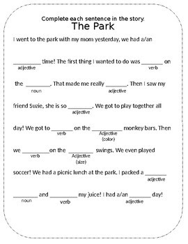 Noun, Adjective or Verb pack (includes posters)