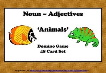 Noun Adjectives ANIMAL-THINGS-FRUIT&VEG 3 Individual Games!