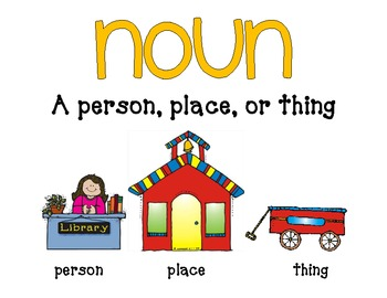Interactive Anchor Chart Freebie: Nouns Not an anchor chart artist ...