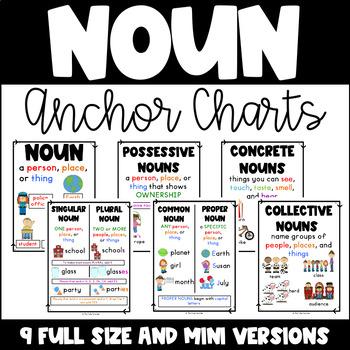 Noun Anchor Charts {7 Concepts}