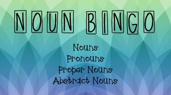 Noun BINGO!