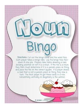 Noun Bingo (Parts of Speech)
