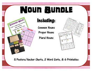 Noun Bundle: Common, Proper, & Plural Nouns