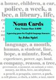 Noun Cards: Easy Nouns One, 1-100