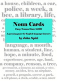 Noun Cards: Easy Nouns One, 1-100