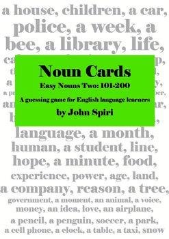 Noun Cards: Easy Nouns Two, 101-200
