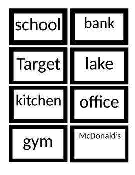 Noun Center Cards