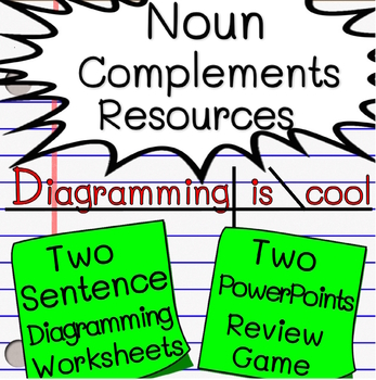 Noun Complements (DO, IO, PN) Mini-Unit  (Diagramming Worksheets, PPTs, Quiz)
