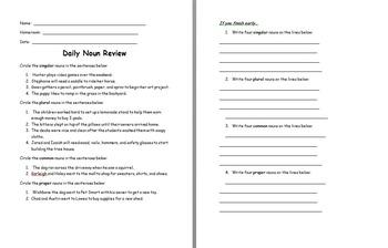 Noun Daily Review