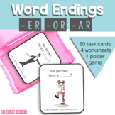 Suffixes Grammar Activity   Flashcards & Worksheets   er ar or